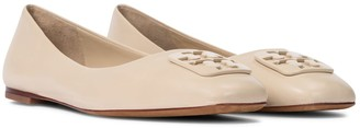 Tory Burch Georgia leather ballet flats