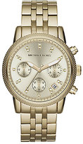 Ritz Round Goldtone Stainless Steel Chronograph Bracelet Watch