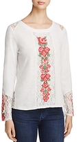 Cupio Embroidered Lace Detail Top