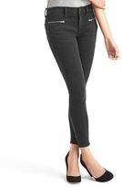 Gap STRETCH 1969 zip pocket true skinny ankle jeans
