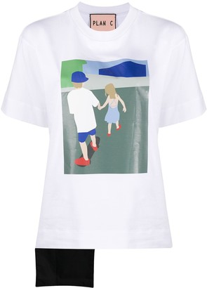 Plan C colour block print T-shirt