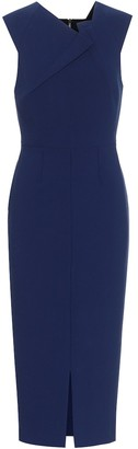 Roland Mouret Tikal stretch-crepe midi dress