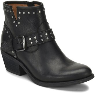 Sofft Chunky Low-Heel Leather Studded Booties -Allene