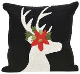 "Liora Manné Frontporch Reindeer Pillow Black - (18""x18"") Square"