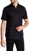 Calvin Klein Tonal Plaid Cutaway Shirt