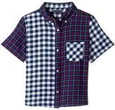Tommy Hilfiger Mix Plaid Short Sleeve Shirt (Big Kids)