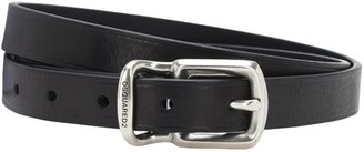 DSQUARED2 2cm Double Buckle Leather Belt