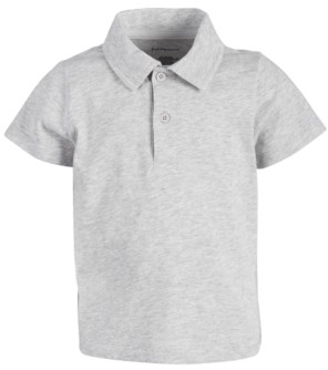 First Impressions Baby Boys Heathered Cotton Polo, Created for Macy's