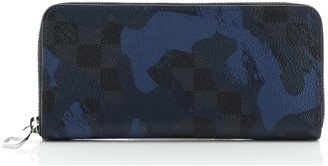 Louis Vuitton Zippy Wallet Limited Edition Camouflage Damier Cobalt Vertical