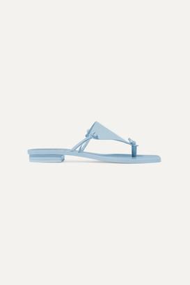 Cult Gaia Tina Leather Sandals - Blue