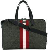 Bally striped holdall - men - Leather/Nylon - One Size