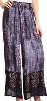 Sakkas 26 - Aline Tie-dye Wide-leg Palazzo Pants with Adjustable Waistband - OS