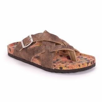 Muk Luks Women's Shayna Sandals- Brown (Numeric_10)
