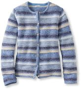 L.L. Bean Marled Cotton Cardigan, Stripe