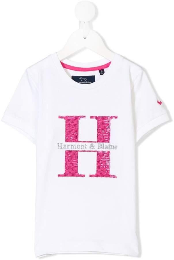 Harmont & Blaine Junior logo embroidered T-shirt