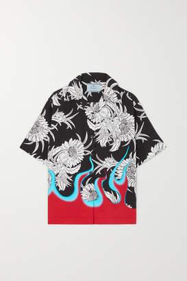 Prada Printed Poplin Shirt - Black