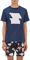 "Saturdays Surf NYC Men's ""NY"" Graphic Cotton T-Shirt-BLUE"