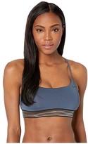Nike Solid Cross-Back Bikini Top (Monsoon Blue) Women's Swimwear