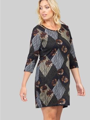 M&Co Izabel Curve patchwork knitted dress