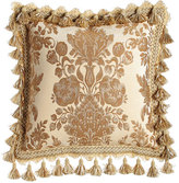 """Sweet Dreams Bellissima Floral Pillow with Tassel Trim, 18""""Sq."""