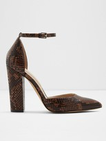 Aldo Nicholes Snake Print Heeled Shoes - Brown