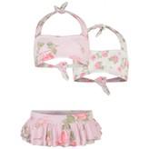 MonnaLisa MonnalisaGirls Pink Rose Print Bikini