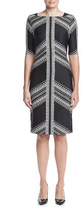 Gabby Skye Women's Plus-Size Printed Sheath Dress