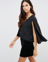 TFNC Tie Detail Top With Cape