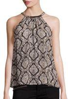 Joie Francis Embellished Silk Halter Top