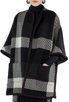 Akris Punto Glen Check Tweed Cape