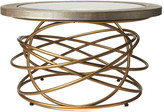 Butler Ernesto Leather & Metal Coffee Table