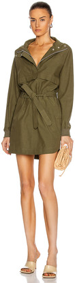 John Elliott Sail Pullover Dress in Olive | FWRD