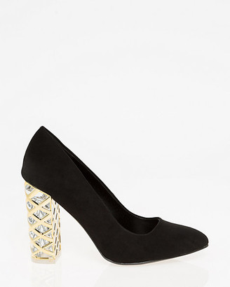 Le Château Metal Trim Block Heel Pump