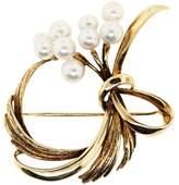 Mikimoto 14K Yellow Gold Pearl Pin