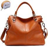Myleas Womens Genuine Leather Handbag Satchel Hobo Tote Bag