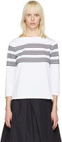 A.P.C. White Striped Re T-Shirt