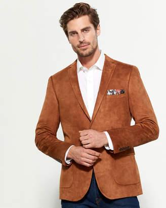 Paisley & Gray Cognac Faux Suede Slim Fit Jacket