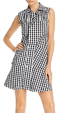 Derek Lam 10 Crosby Satina Cotton Gingham Shirtdress