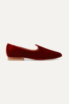 Le Monde Beryl - Venetian Velvet Loafers - Claret