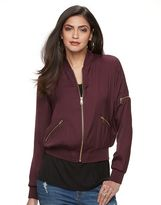 JLO by Jennifer Lopez Women's Luxe Essentials Bomber Jacket