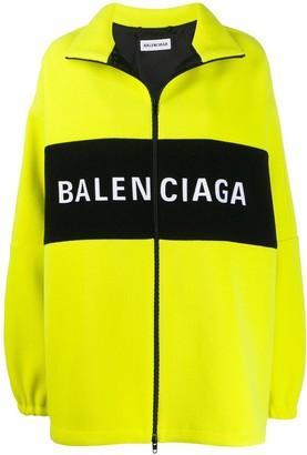 Balenciaga Oversized Zipped Logo Jacket