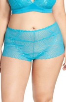 Cosabella Plus Size Women's Minoa Naughtie Open Gusset Boyshorts