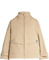 ADAM by Adam Lippes Stand-collar stretch-cotton jacket