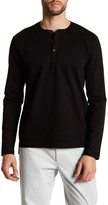 Kenneth Cole New York Long Sleeve Three Button Honeycomb Henley Shirt