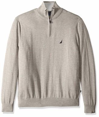Nautica Men's Long Sleeve 1/4 Zip Sweater