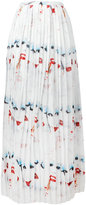 Jeremy Scott face print pleated skirt