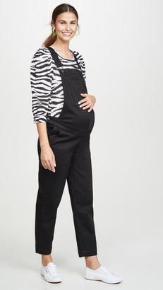 Madewell Maternity Straight Leg Overalls