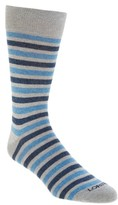 Lorenzo Uomo Men's Double Stripe Crew Socks