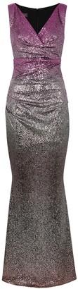 Talbot Runhof Bossa degrade foil-print gown