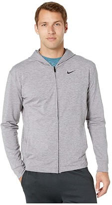 Nike Dry Hoodie Full Zip Hyperdry Transcend Lt (Cargo Khaki/Heather/Black) Men's Sweatshirt